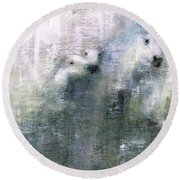 Forty Shades Of Grey Round Beach Towel