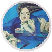Fragments Of Longing  Round Beach Towel
