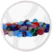 Gemstones Round Beach Towel
