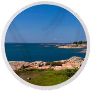 Georgian Bay Coastline Round Beach Towel