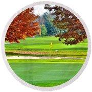 Golf Course Beauty Round Beach Towel