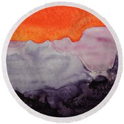 Grand Canyon Original Painting Round Beach Towel