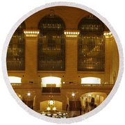 Grand Central Station Round Beach Towel by Dan Sproul