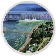 Grand Coulee Round Beach Towel