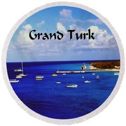 Grand Turk Round Beach Towel