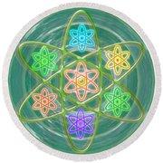 Green Revolution Chakra Mandala Art Yoga Meditation Tools Navinjoshi  Rights Managed Images Graphic  Round Beach Towel