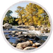 Guadalupe River  Round Beach Towel