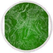 Guatemala Street Map - Guatemala City Guatemala Road Map Art On  Round Beach Towel