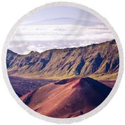 Haleakala Sunrise On The Summit Maui Hawaii - Kalahaku Overlook Round Beach Towel
