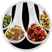 Herbal Teas Round Beach Towel