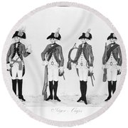 Hessian Soldiers Round Beach Towel