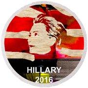 Hillary Clinton 2016 Round Beach Towel