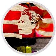 Hillary Clinton Round Beach Towel by Marvin Blaine