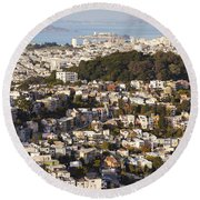 Homes Of San Francisco Round Beach Towel