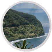 Honomanu - Highway To Heaven - Road To Hana Maui Hawaii Round Beach Towel