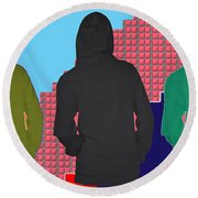 Hoodie Gang Graffiti Fashion Background Designs  And Color Tones N Color Shades Available For Downlo Round Beach Towel