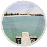 Horseshoe Bay South Australia Round Beach Towel