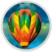 Hot Air Balloon Round Beach Towel by Robert Bales