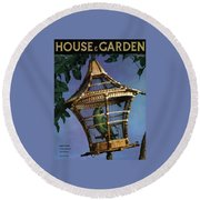 House And Garden Cover Round Beach Towel