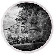 House On Haunted Hill Round Beach Towel by Madeline Ellis