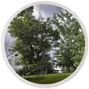 House On The Hill 3 Round Beach Towel
