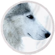 Husky Round Beach Towel