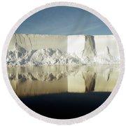 Iceberg Ross Sea Antarctica Round Beach Towel