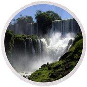 Iguassu Falls Round Beach Towel