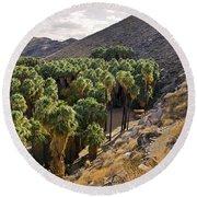 Indian Canyons - California Round Beach Towel