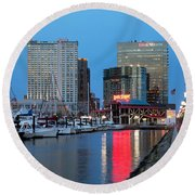 Inner Harbor Round Beach Towel