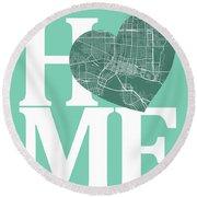 Jacksonville Street Map Home Heart - Jacksonville Florida Road M Round Beach Towel
