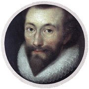 John Donne (1572-1631) Round Beach Towel