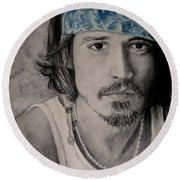 Depp Round Beach Towel
