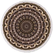 Kaleidoscope 49 Round Beach Towel