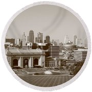 Kansas City Round Beach Towel