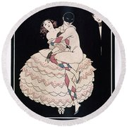 Karsavina Round Beach Towel by Georges Barbier