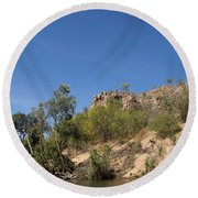 Katherine Gorge Landscapes Round Beach Towel