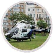 Kent Air Ambulance Round Beach Towel