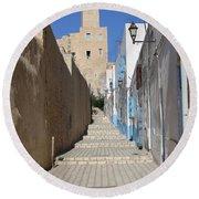 Khalaf Al-fata Lighthouse Round Beach Towel