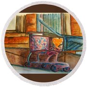 Kidnapped Cart Round Beach Towel