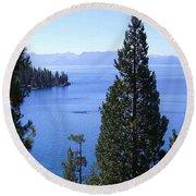 Lake Tahoe 4 Round Beach Towel