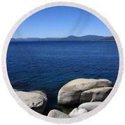 Lake Tahoe Round Beach Towel by Frank Romeo
