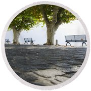 Lakefront Round Beach Towel