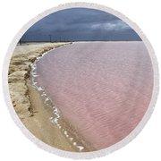 Las Coloradas Salt Flat Round Beach Towel