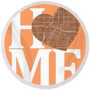Las Vegas Street Map Home Heart - Las Vegas Nevada Road Map In A Round Beach Towel