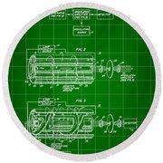 Laser Patent 1958 - Green Round Beach Towel