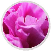 Lavender Carnation Round Beach Towel