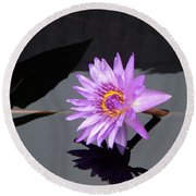 Lavender Lily Round Beach Towel