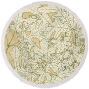 Leaves From Nature Round Beach Towel