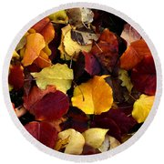 Leaves Of Autumn Round Beach Towel